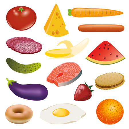 food collection Vector