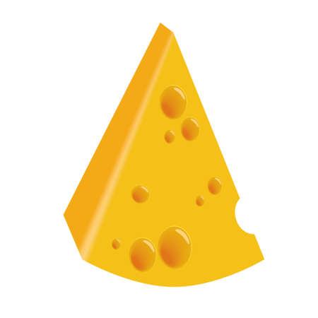 emmental: piece of cheese