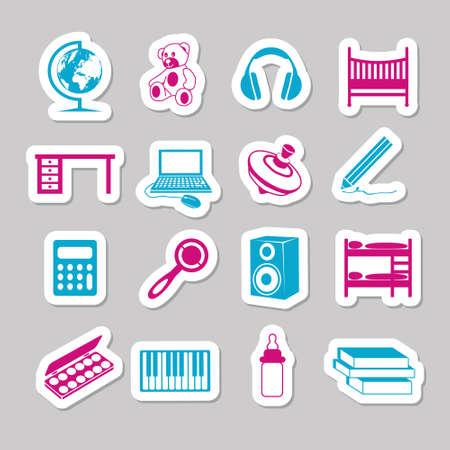 children room stickers Stock Vector - 15302730