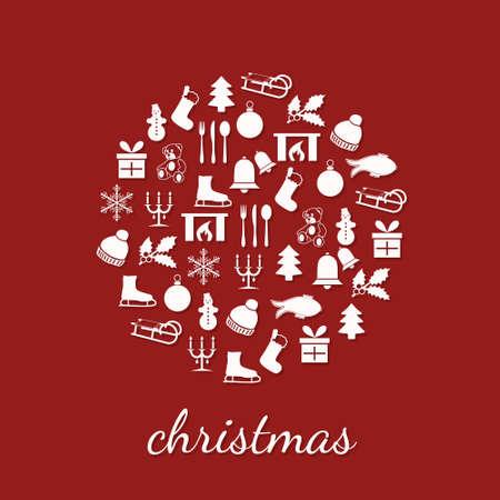 osos navide�os: navidad iconos en c�rculo