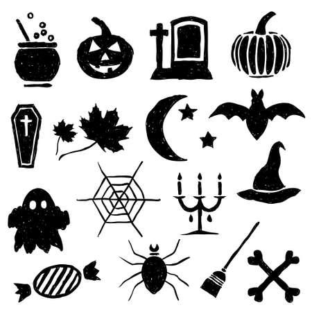 doodle halloween images Stock Vector - 15302733