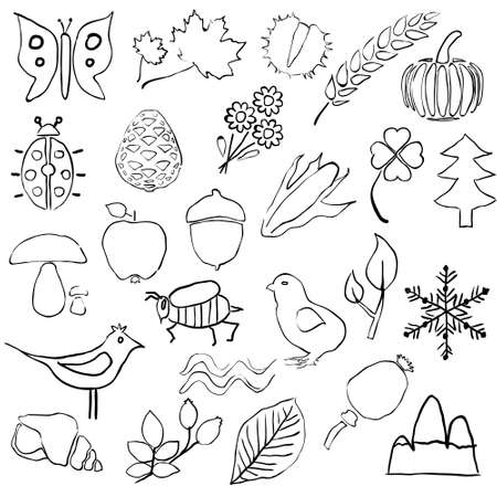 doodle nature pictures Stock Vector - 15302728