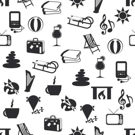 seamless relax pattern Vector