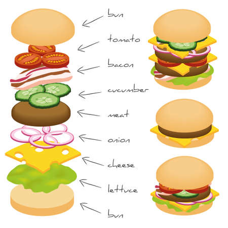 cheeseburgers: hamburger ingredients