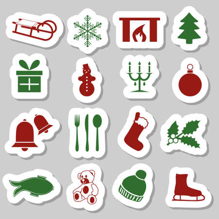 christmas stickers Stock Vector - 15350720