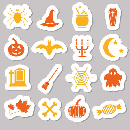 halloween stickers Vector
