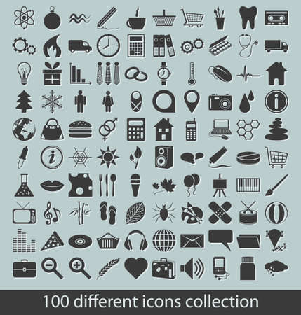 icons collection Stock Vector - 15350701