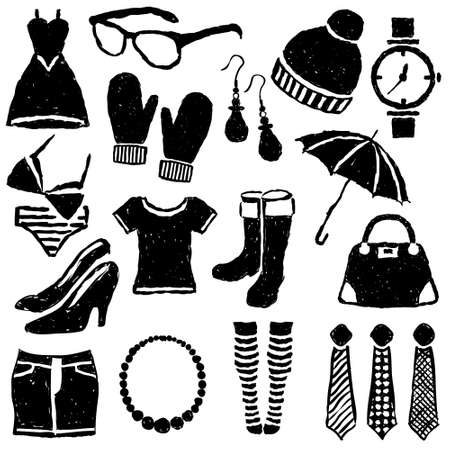 doodle fashion images Stock Vector - 15466952