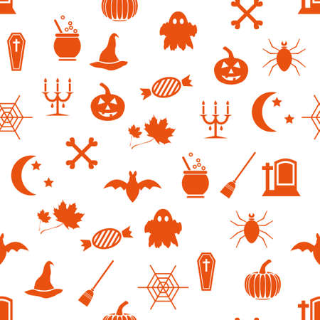 seamless halloween pattern Stock Vector - 15466943