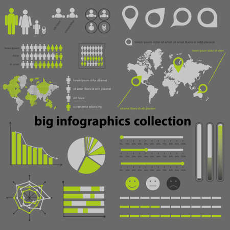 demografia: infograf�a colecci�n