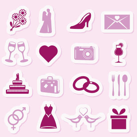 violet icon: wedding stickers