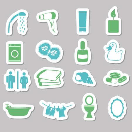 cram: bathroom stickers Illustration