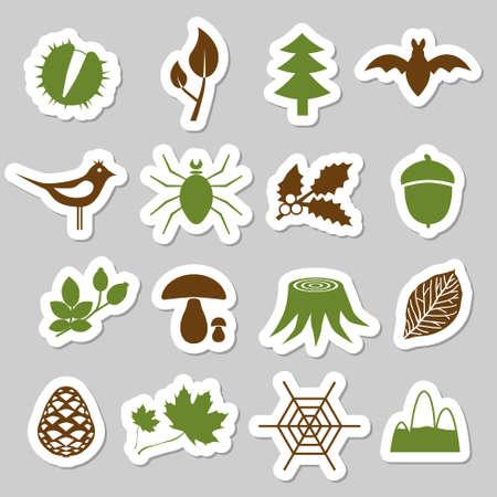 gui: autocollants foresti�res Illustration