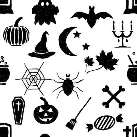 seamless doodle halloween pattern Stock Vector - 15682706