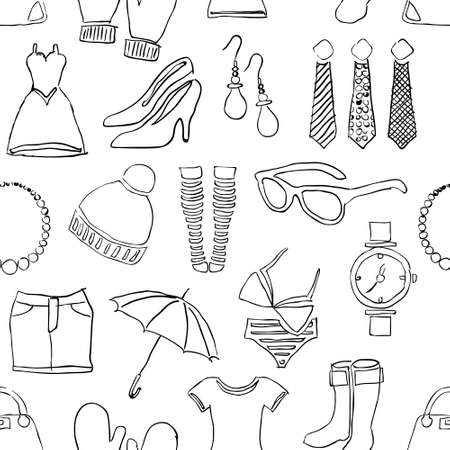 jewellery design: seamless doodle fashion pattern