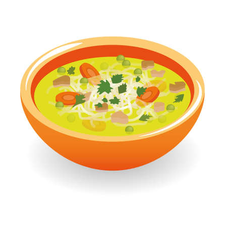 beef broth soup Vector