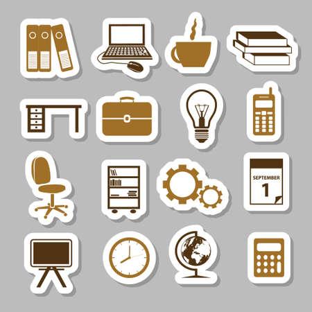 table calendar: office stickers Illustration