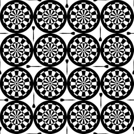 darts: seamless dartboard pattern