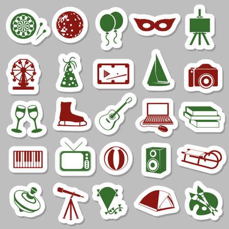 entertainment stickers Stock Vector - 16246325