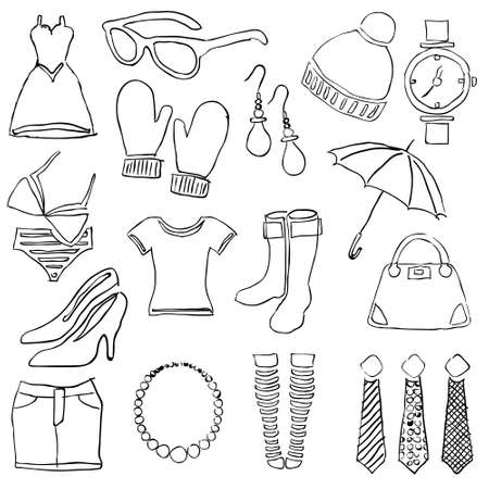 doodle fashion images Stock Vector - 16246321