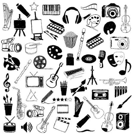 big doodle art pictures collection Vector