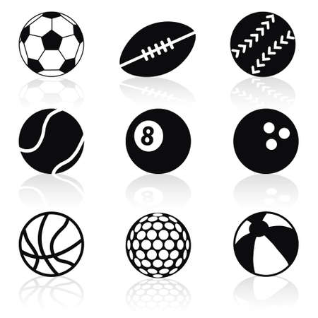 sport balls collection Stock Vector - 16246296