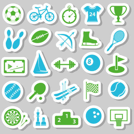 sport stickers Stock Vector - 16246298