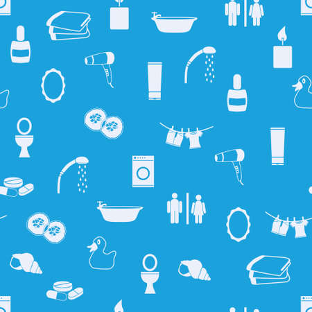washing clothes: bathroom seamless pattern Illustration