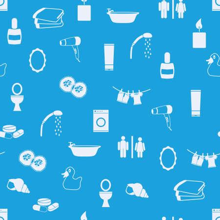 cram: bathroom seamless pattern Illustration