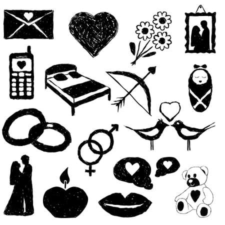 marriage bed: doodle love images