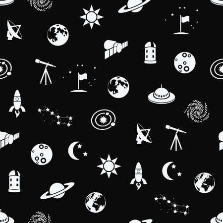 zon en maan: naadloze ruimte geklets
