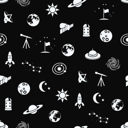 seamless space patter Vector