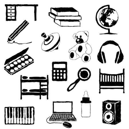 children room doodle images Stock Vector - 16692316
