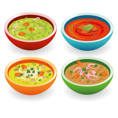 four soup Vector
