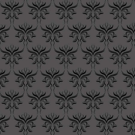 dark damask pattern Vector