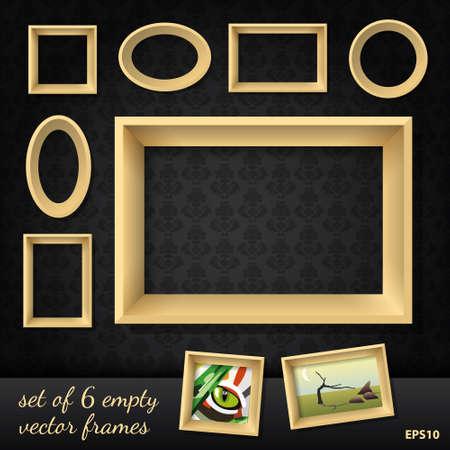 set of 6 empty  frames Stock Vector - 16899288