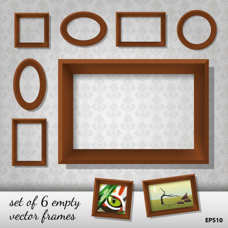 photo gallery: set of 6 empty  frames
