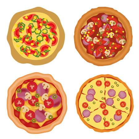 pizza ingredients: pizza collection