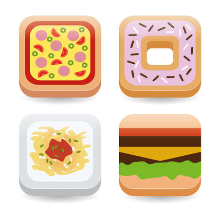 food application icons Stock Vector - 17450612