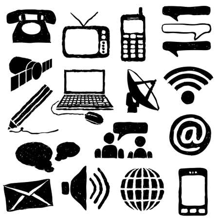 doodle communication images Vector