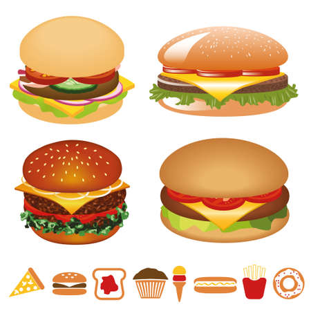 hamburger collection Vector