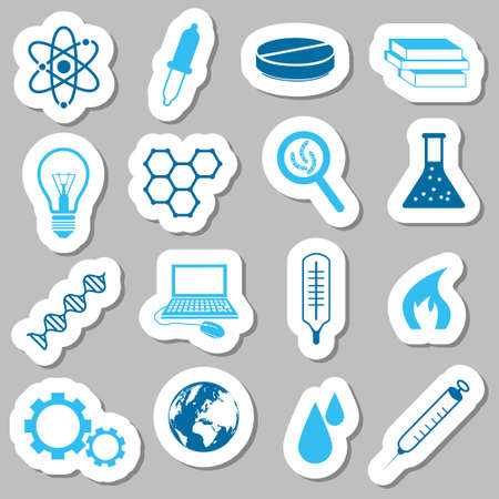 laboratory label: science stickers