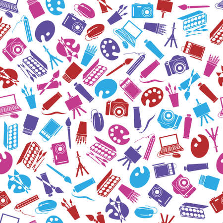art icons seamless pattern Stock Vector - 17761417