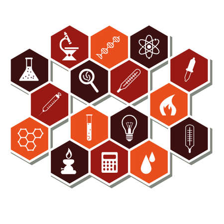 laboratory icons Stock Vector - 17761402
