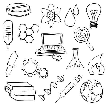sketch science images Vector