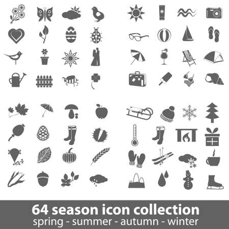 64 season icon collection Stock Vector - 17761414
