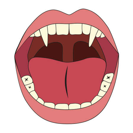lengua larga: vampiro boca