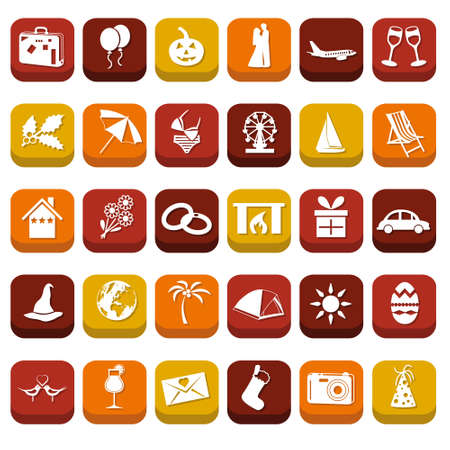 holiday icons Stock Vector - 18001225