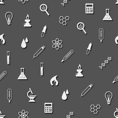 seamless laboratory pattern Vector