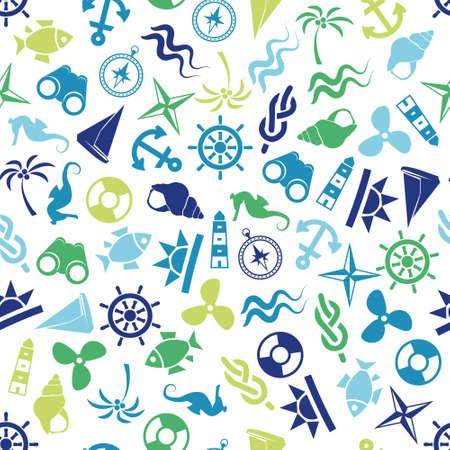 roer: naadloze marine patroon